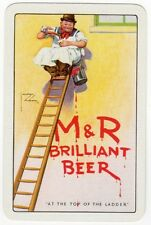 Playing Cards 1 Swap Card - Old MOORS ROBSON Brewery M&R Beer PAINTER Decorator