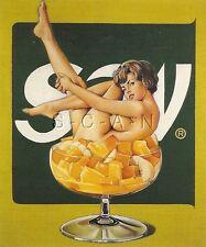 1960s Stil Hautfarben Risque Künstlerisch Pc- Mel Ramos- Legs- Damen in Früchte