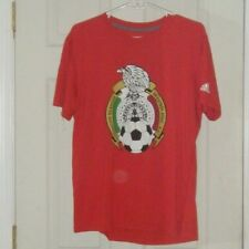 Mexico National Soccer Football Team Adidas Red T-Shirt,Size Large Used