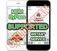 APPLE IPHONE MDM BYPASS,UNLOCK REMOTE PROFILE REMOVE, IOS 12.4 SUPPORTED INSTANT
