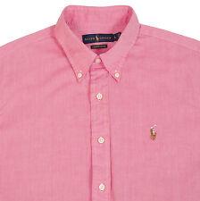 Ralph Lauren Big Tall Mens Chambray Oxford Shirt Short Sleeve Pony Logo Polo AS