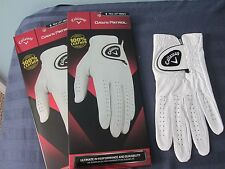 2 CALLAWAY DAWN PATROL LEATHER GOLF GLOVES SIZE SMALL NEW MENS