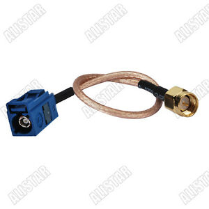 """Fakra Jack """"C"""" to SMA male plug pigtail Cable RG316 for GPS Telematics 15CM"""