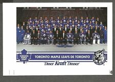 "1992-93 Kraft Dinner Toronto Maple Leafs ""White-Logo"" Proof & Corrected, Gilmour"