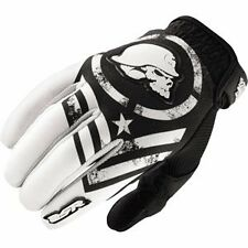 M Medium Metal Mulisha Optic MX Gloves Motorbike Motorcycle BMX Black White