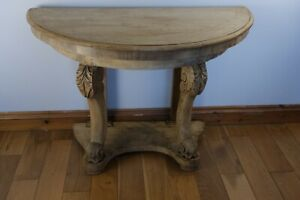 vintage bleached console table