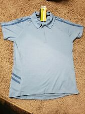 Women's Smartwool Sport Cycling Polo Shirt W/ Attached Cleaning Cloth Large Zip