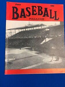 1949 Baseball Magazine Washington Senators
