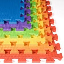 FlooringInc 24 SQFT Rainbow Play Interlocking Foam Floor Puzzle Mat - 6 Tiles