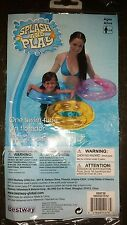 """New listing Splash And Play Swim Tube Clear Yellow Plastic Inflatable Swim Ring 20"""" 20 inch"""