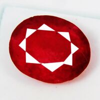 CERTIFIED Natural Precious African Red Color Ruby Quartz 11 Ct Loose Gemstone