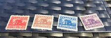 China Revenue Stamps Antique Architecture Building Four Stamps Total, 1 Dollar