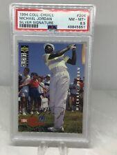 1994 Collectors Choice Silver Signature #204 Michael Jordan PSA 8.5 (Golf)