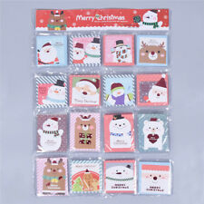 Lot of 16 Greeting Merry Christmas Cards Lovely Santa Claus Cartoon Celebrations