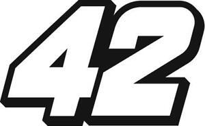 NEW FOR 2020 #42 Matt Kenseth Racing Sticker Decal - SM thru XL - Various colors