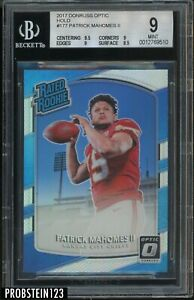 2017 Donruss Optic Holo Prizm #177 Patrick Mahomes II RC Rookie BGS 9 w/ 9.5