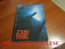 IN INGLESE MANUALE SINCLAIR ZX8I BASIC PROGRAMMING BY STEVEN VICKERS USATO