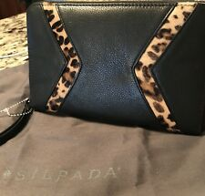 Silpada Zahara Wristlet F0004 Genuine Leather Black Animal Print Leopard New