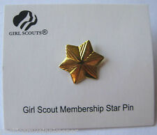 Girl Scout MEMBERSHIP STAR PIN Official Uniform 1-Year Annual Award NEW + Disc!