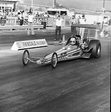 """Jerry Ruth's """"Pay-n-Pak"""" Dragster @ Irwindale - Vintage 120mm B&W Negative DR4"""