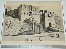 PHOTO TCF 1920 1930 SYRIE ALEP ENTREE CITADELLE COLONIES FRANCE LEVANT