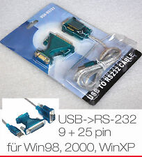 Câble usb - & GT série 9 + 25 pin rs-232 rs232 pour windows win 98 98se 2000 xp