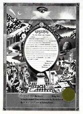 PERSONALIZED Masonic Master Mason ring certificate record art print Freemasonry