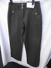 BNWT Womens Sz 10 Khaki Undercoverwear Smart Long Length Cargo Pants RRP $65