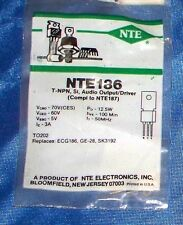 NTE186 Silicon Transistor General Purpose Output & Driver for Audio Amplifier