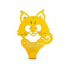 Metal Coat Cat Rack Wall Hooks Steel Yellow Kitty Handmade Hanger FREE SHIPPING