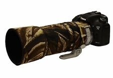 Canon 100 400mm IS Mk2 Neoprene Lens Protection Camouflage Cover : Brown camo