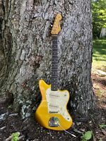 Metallic Gold Jazzmaster Style Body by Electravox Custom Neck Beautiful