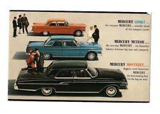 1962 Mercury Comet Meteor Monterey Postcard Mailer