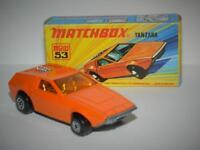 MATCHBOX LESNEY SUPERFAST VINTAGE TANZARA No.53 MINT IN ORIGINAL I1 BOX 1972