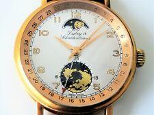 Armbanduhr DUBEY & SCHALDENBRAND 'Weltzeit' /Automatik/vergoldet/Mondphase *RAR*