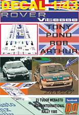 DECAL 1/43 ROVER 3500 VITESSE TONY POND MANX R. 1985 DnF (08)