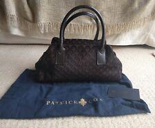 Autthentic New Patrick Cox Fine Pony Skin Handbag Chocolate Brown RARE