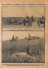 Soldiers de Botha South Africa Hunter Hunting Afrique du Sud 1915 WWI