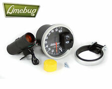 "AUTOMETER CONTAGIRI Manometro 5 ""MONSTER TACH REV COUNTER NERO 10.000 RPM Dial VW"
