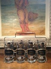 Mid-Century Modern Georges Briard Highball Name Your Poison 8 piece