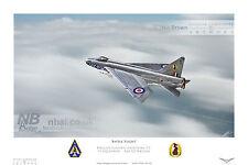 English Electric Lightning F.2, 19 SQD. Raf GUTERSLOH Digital Art Print