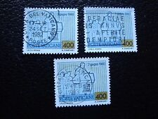 VATICAN - timbre yvert et tellier n° 722 x3 obl (A28) stamp