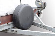 Schwarze Reserveradhülle 195/65R15 Reifenhülle 64x22cm Autoanhänger Anhänger NEU