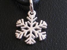 Schneeflocke klein 925'er Silber Ketten Anhänger  / KA 612