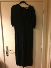 Asos Black Twist Front Cropped Jumpsuit - Size 18 - Worn Twice!