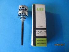 "Vintage Lab Dual 10K Lin Pot. 1/4"" Round Shaft. N.O.S.I.B."