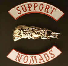 More details for 3 in 1 metal pin badges 81 1% angels riders hells bikers support nomads patch
