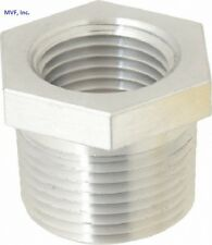 "1"" X 3/4"" 150 NPT Hex Bushing Aluminum 6061-T6 Sch 40 Pipe Fitting A12060541"