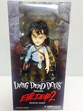 "LIVING DEAD DOLLS EVIL DEAD 2: ASH ACTION FIGURE DOLL MEZCO TOYZ - 10"" / 25cm"