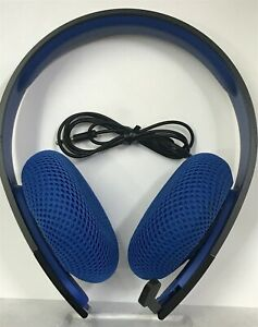 PlayStation Silver Wired Stereo Headset Black And Blue PS4 Ear CECHYA-0087